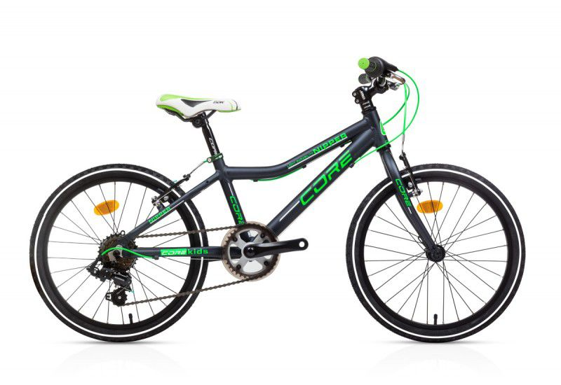 """Dětské kolo Core nipper 20"""" černé - zelený nápis Sprinterbike"""