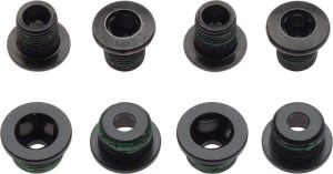 CRANK CHAINRING BOLT KIT 4X2 ALUMINUM/STEEL BLACK QTY 4