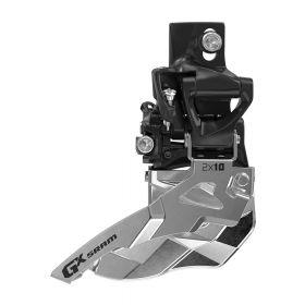 Přesmykač SRAM GX 2x10 horní přímá montáž 38/36z, spodní tah