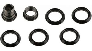CRANK CHAINRING SPACERS (QTY 5) INCLUDING HIDDEN BOLT/NUT KIT FOR CX1 CHAINRING
