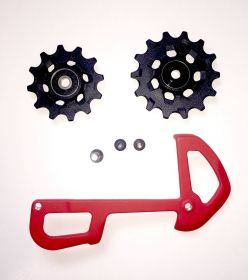 REAR DERAILLEUR PULLEY AND INNER CAGE X01 EAGLE 12 SPEED X-SYNC RED