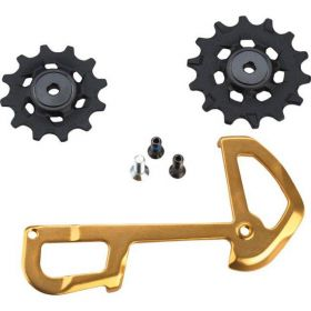 REAR DERAILLEUR PULLEY AND INNER CAGE XX1 EAGLE 12 SPEED X-SYNC GOLD