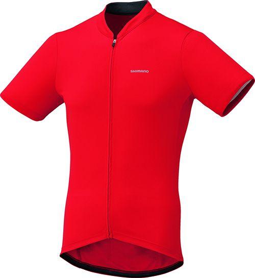 SHIMANO dres krátký rukáv, červená, L