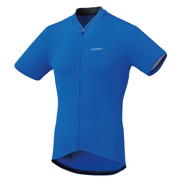 SHIMANO dres krátký rukáv, modrá, XXL