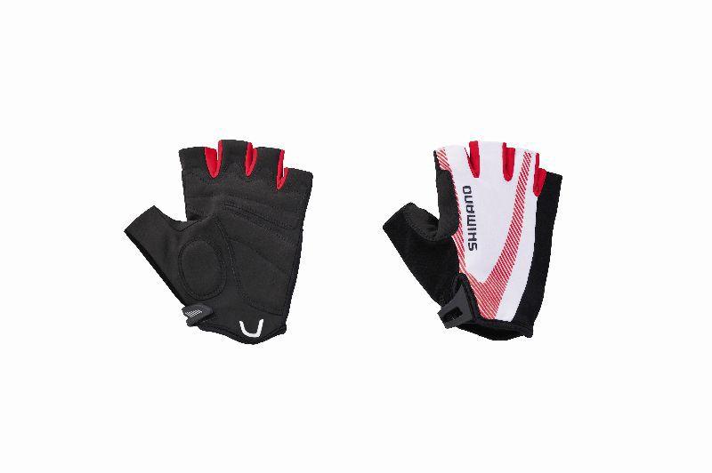 SHIMANO rukavice BASIC race, červená, L