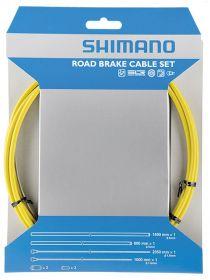 SHIMANO brzdový set silniční žlutý 800/1400 mm + 1000/2050 mm