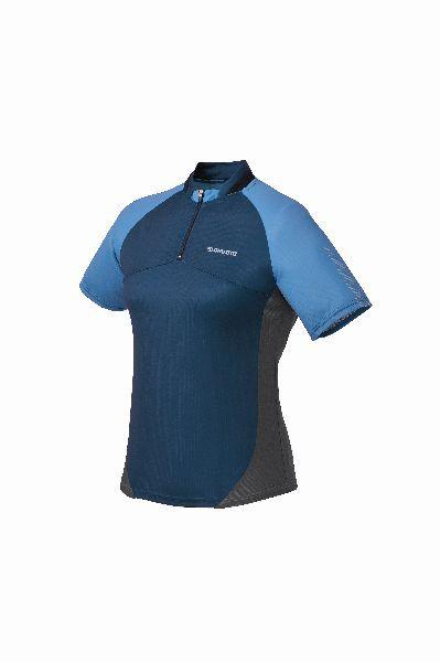 SHIMANO dámský dres krátký rukáv, modrá/zelená, M