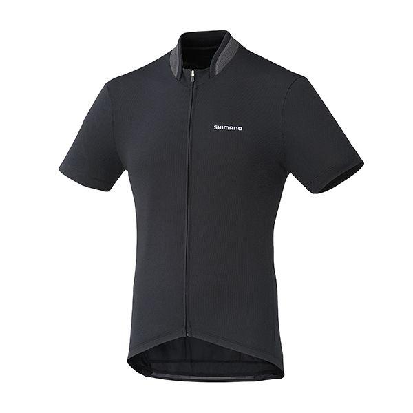 SHIMANO dres, celopropínací, černá, M
