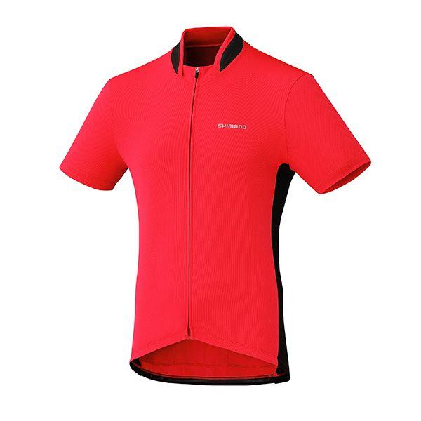 SHIMANO dres, celopropínací, červená, M