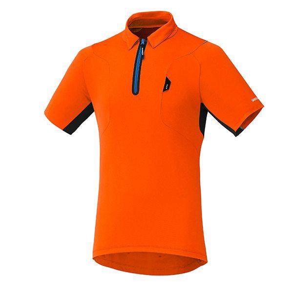 SHIMANO dres polo, amber oranžová, M