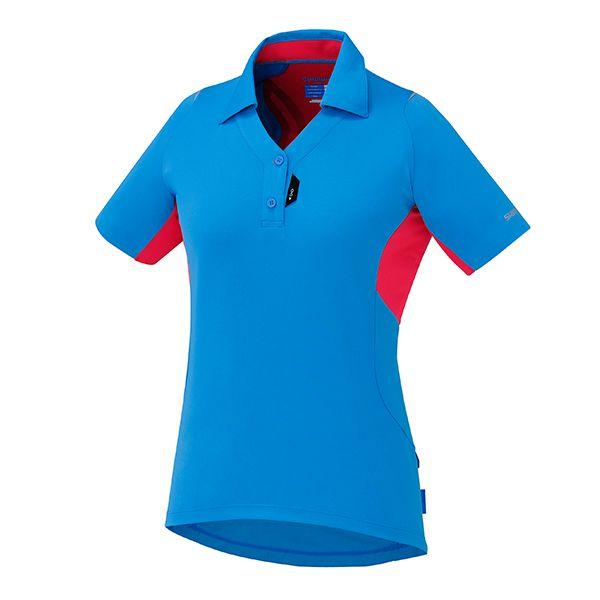 SHIMANO dres polo, dámské, lightning modrá, XL