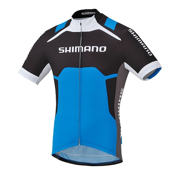 SHIMANO dres s potiskem, cobalt modrá, M