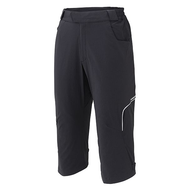 SHIMANO Touring 3/4 kalhoty, černá, L