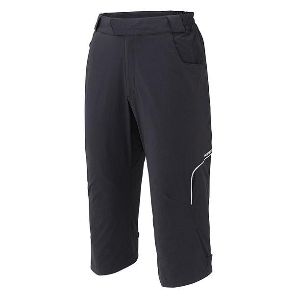 SHIMANO Touring 3/4 kalhoty, černá, M