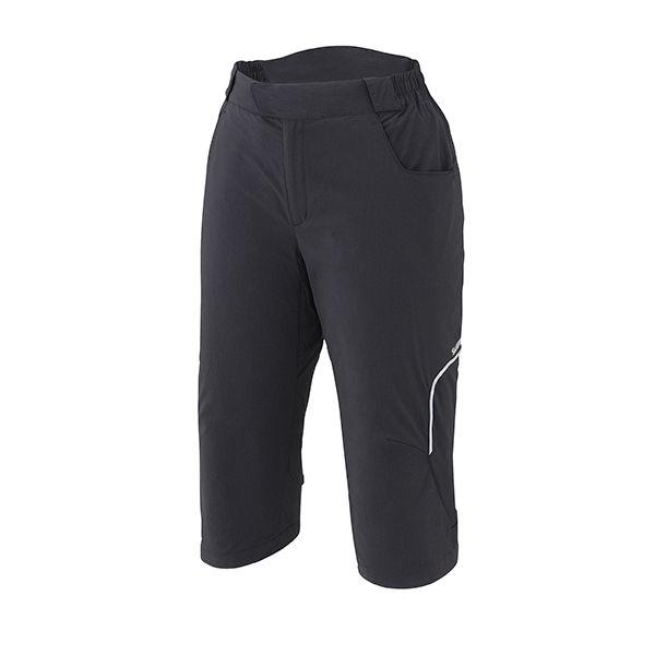 SHIMANO Touring 3/4 kalhoty, dámské, černá, XL