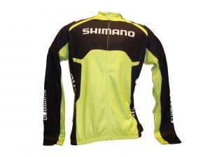 SHIMANO Thermal Print dres s dlouhým rukávem Team, Electric zelená, L
