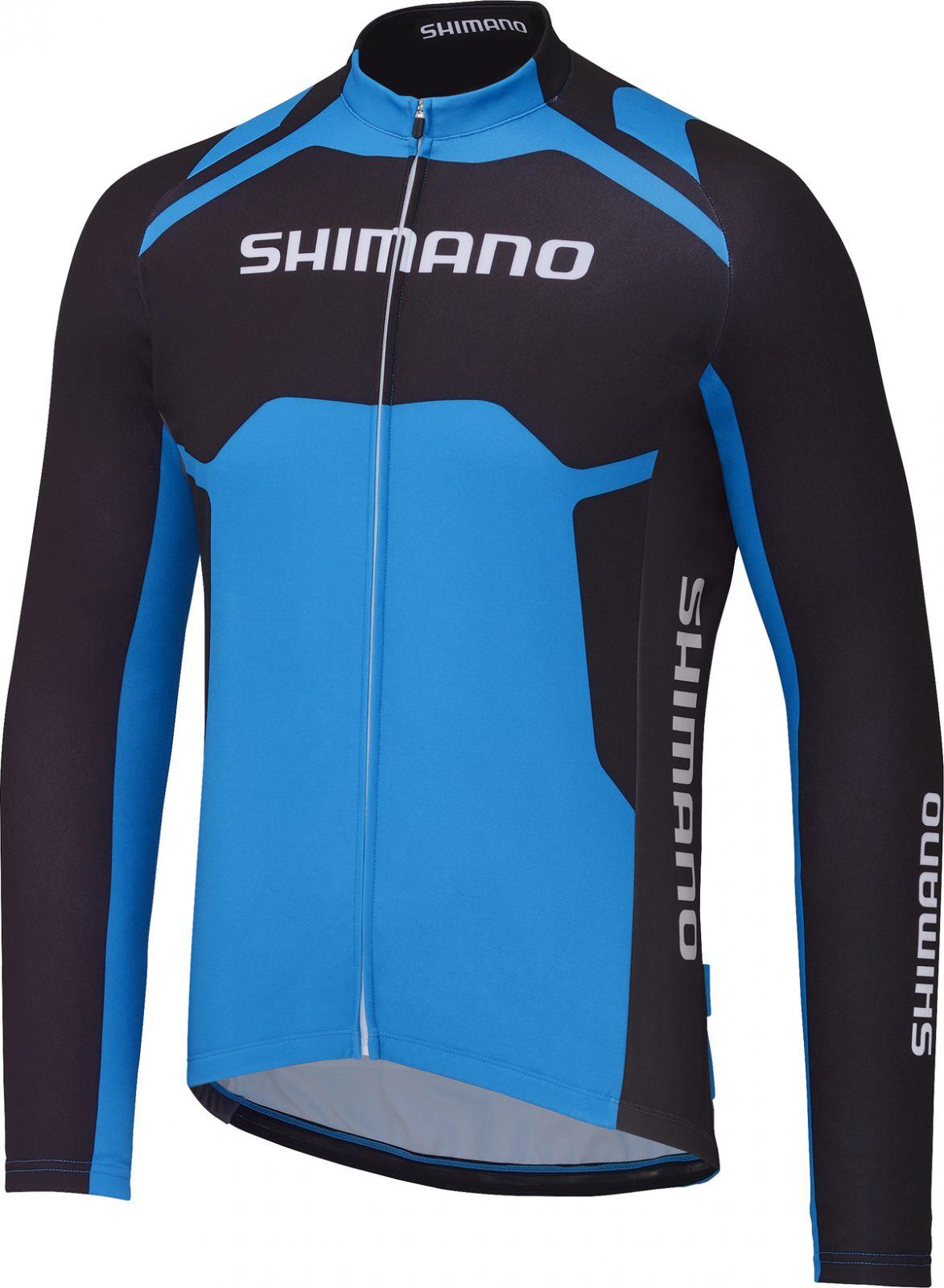 SHIMANO Thermal Print dres s dlouhým rukávem Team, SHIMANO modrá, XL