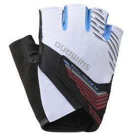SHIMANO ADVANCED rukavice, bílá, XL