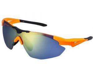 SHIMANO brýle S40R, Neonoranžová/černá, skla kouřová oranžová zrcadlová