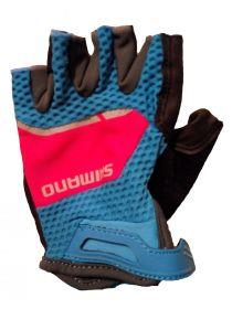 SHIMANO Explorer dámské rukavice, modrá/jazzberry, L