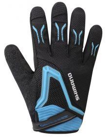 SHIMANO FREERIDE rukavice, černá/ modrá, M