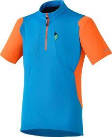 SHIMANO Touring dres, modrá/oranžová, XL