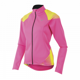 PEARL iZUMi W ELITE SOFTSHELL 180 bunda, SCREAMING růžová/žlutá, M