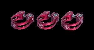 PRO sedlovková objímka odlehčená, 31,8mm, červená