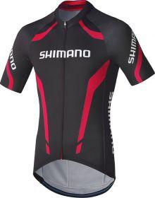 SHIMANO Performance dres Print s krátkým rukávem, černá/červená, XXL