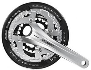 SHIMANO kliky ALIVIO FC-T4060 integr.klika 3x9 175 mm 44x32x22z bez BB misek s krytem černé