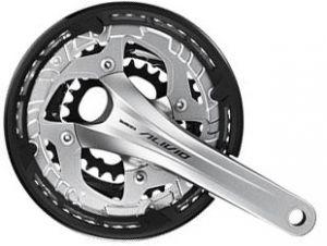 SHIMANO kliky ALIVIO FC-T4060-T integr.klika 3x9 175 mm 48x36x26z bez BB misek s krytem stříbrné