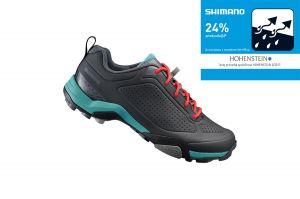 SHIMANO turistické obuv SH-MT300WG, černá/zelená, 40