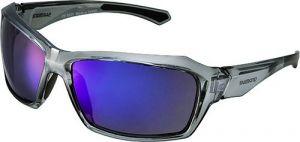 SHIMANO brýle S22X, šedá/černá, skla kouřová modrá zrcadlová