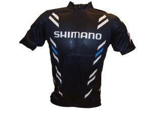 SHIMANO Print dres s krátkým rukávem, černá, XL