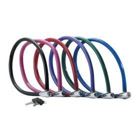 MasterLock Ocelový kabelový zámek 55cm x  6mm 2 klíče, vinylový potah -  fialový