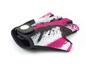 AUTHOR Rukavice Junior X6 L (růžová/bílá/černá)