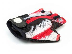AUTHOR Rukavice Junior X6 M (červená/bílá/černá)