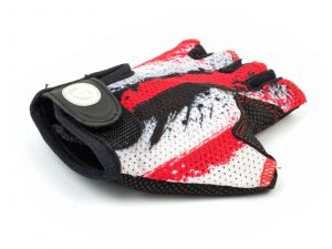 AUTHOR Rukavice Junior X6 S (červená/bílá/černá)