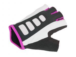 AUTHOR Rukavice Lady Sport Gel X6 k/p M (bílá/růžová/černá)