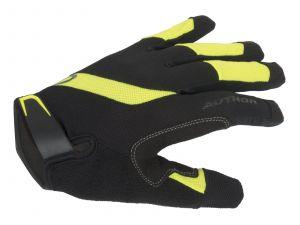 AUTHOR Rukavice Men SingleT X5 d/p XL (černá/žlutá-neonová)