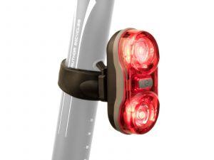 AUTHOR Světlo zad. A-Duplex X7  20 lm   (černá/červené-sklo)