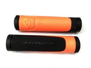 AUTHOR Gripy AGR R600 D3  l.130mm (oranžová-neonová/černá)