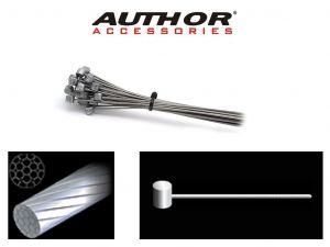 AUTHOR Lanko brzdové ABS-Lb-Mtb 1,5x2000mm (10ks v bal)  (stříbrná)