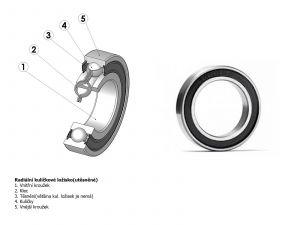 AUTHOR Ložisko 6000 2RS/RS/RU  (šedá)
