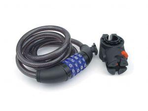 AUTHOR Zámek ASL-23 spir/kód  d.10x1500mm (kouřová)