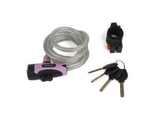 AUTHOR Zámek ASL-25 spir d.10x1500mm (růžová/černá)