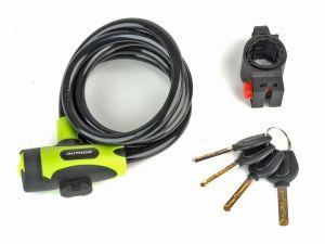 AUTHOR Zámek ASL-25 spir d.10x1500mm (zelená/černá)