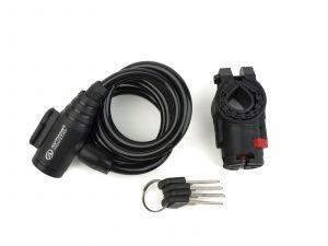 AUTHOR Zámek ASL-31 spir  d.8x1500mm (černá)