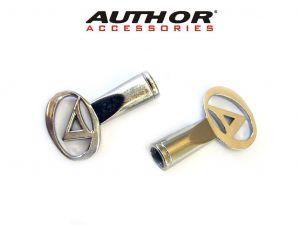 AUTHOR Krytka ventilku BMX (2ks v bal) FV (stříbrná)