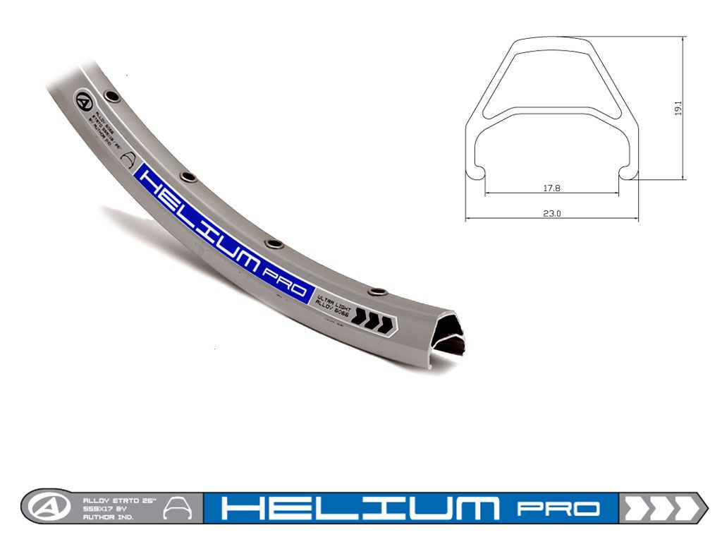 AUTHOR Ráfek ACO Helium Pro 559x18/ 32 disc (šedá)